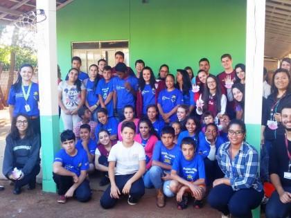 Visita do Projeto Comunitário da PUC na Unidade de Guaravera